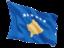 kosovo_fluttering_flag_64