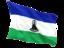 lesotho_fluttering_flag_64