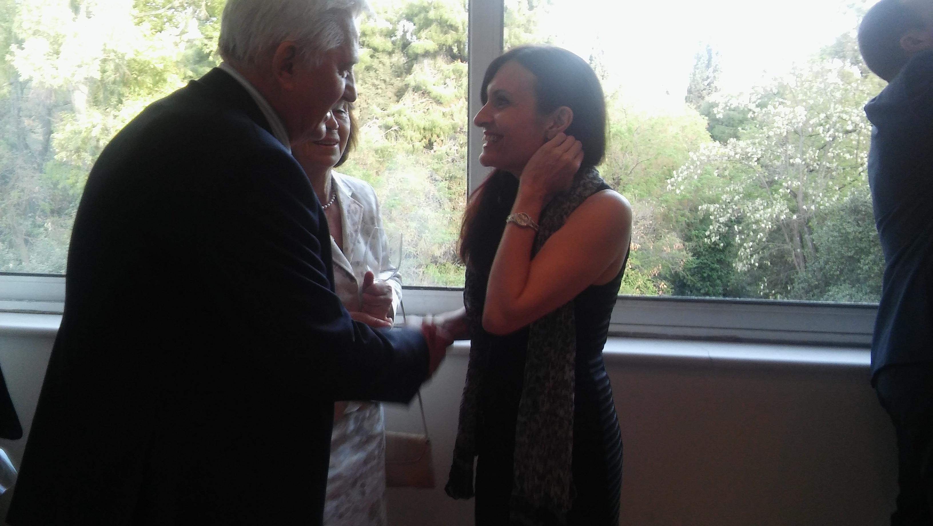 The Ambassador of the Argentine Republic, Carolina Pérez Colman, welcomes the guests